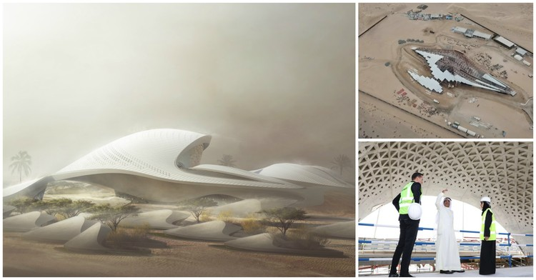 Zaha Hadid Architects' Bee'ah Headquarters Tops Out in UAE