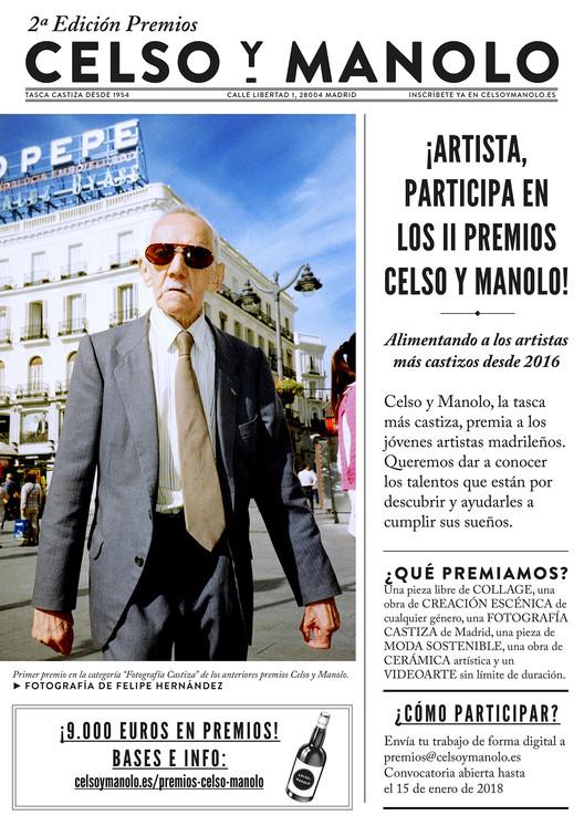 """II Edición de los Premios Celso y Manolo, Felipe Hernández, Primer premio en la categoría """"Fotografía Castiza"""" de los anteriores premios Celso y Manolo."""
