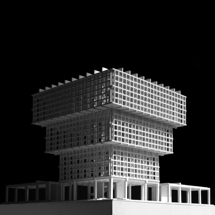 Abren licitación para la construcción del Museo LAMP en Concepción, diseñado por Pezo von Ellrichshausen, Maqueta. Image Cortesía de Pezo von Ellrichshausen