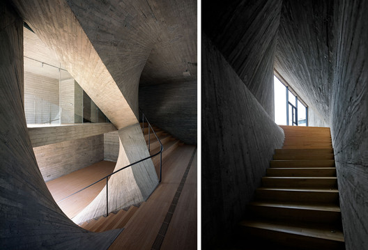Fab-Union in Shanghai's West Bund neighborhood, designed by Archi-Union. Images by Hao Chen (left) and Shengliang Su (right)
