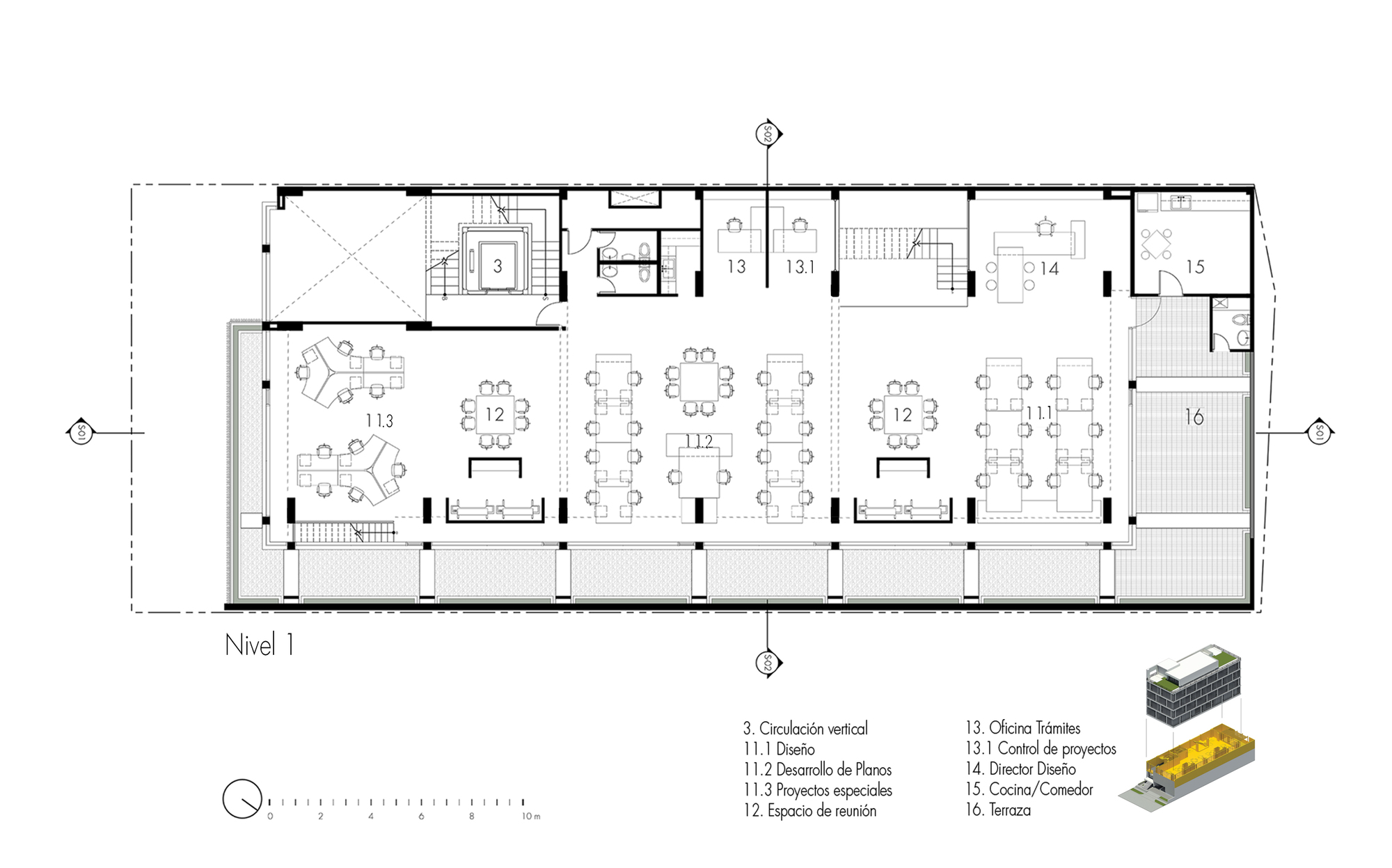 Galer a de ventura offices ventura arquitectos 12 for Espacios de oficinas arquitectura