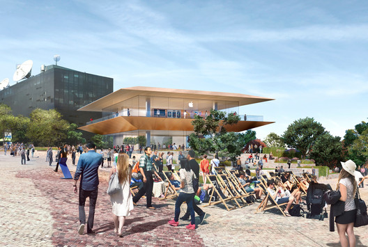 """Apple Federation Square complements the original vision for the precinct, increases public space and provides a daily program of activity to inspire and educate the community,"" says Apple. Image Courtesy of Apple"