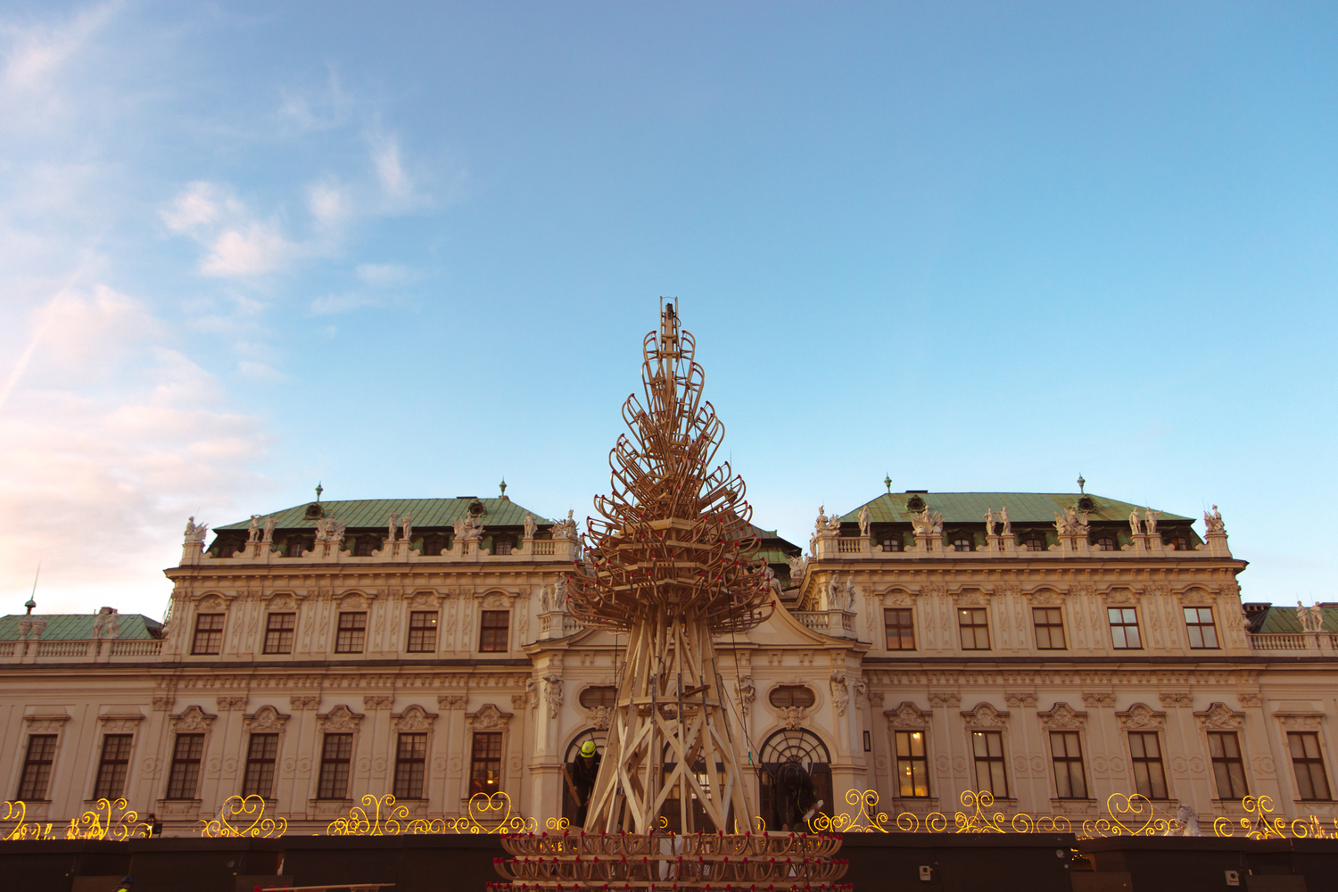 Hello Wood Builds 5 Wooden Christmas Trees in Cities Throughout Europe,Vienna. Image © Victor Moye-Noza