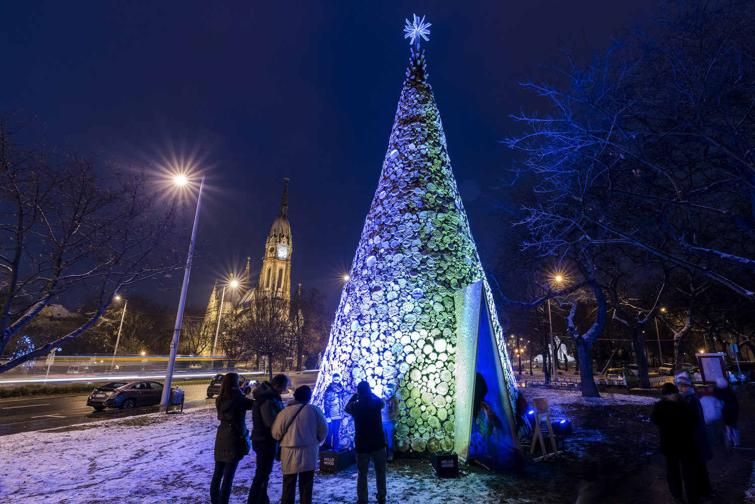 Hello Wood Builds 5 Wooden Christmas Trees in Cities Throughout Europe,Kobánya. Image © Máté Lakos