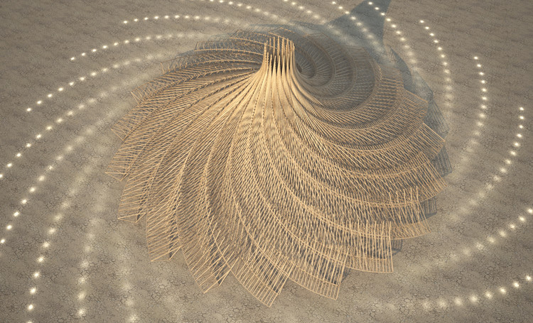 Burning Man presenta diseño de su templo central para la edición 2018, vía Burning Man Journal