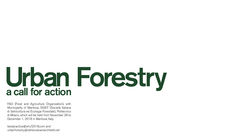 Urban Forestry: A Call for Action by Stefano Boeri Architetti