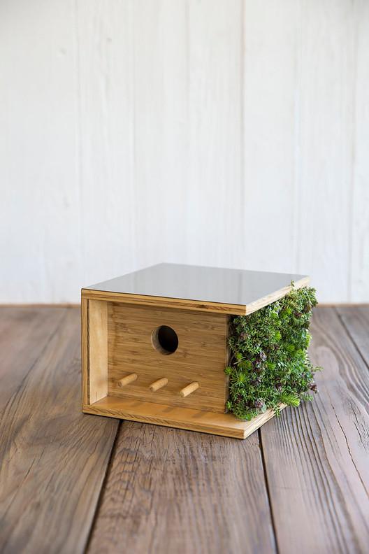 Living Wall Bauhaus Birdhouse. Photo by Toy/Sunset Publishing. Image via Sourgrassbuilt.com