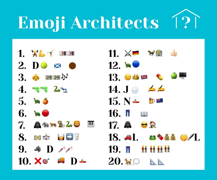 Can You Guess the Names of These Architects From the Emoji
