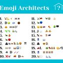 CAN YOU GUESS THE NAMES OF THESE ARCHITECTS FROM THE EMOJI CLUES?