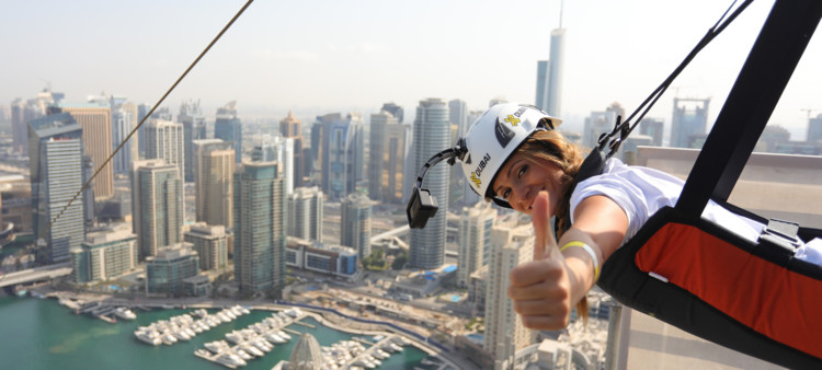 Soar Through Dubai's Cityscape With This Extreme Zipline , via XLine Dubai