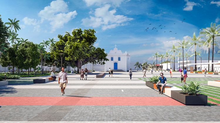 Terceiro lugar no Concurso para a Revitalização da Praça Central de Guaratuba, Cortesia de Oficina Urbana de Arquitetura (OUA) + TOMO Arquitetos