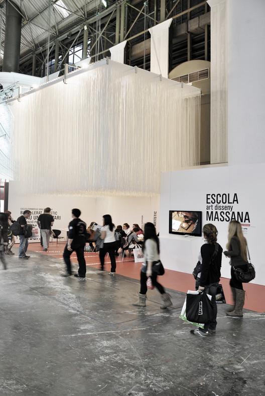 CRA-DE Studio utiliza cordones náuticos para representar Escuela de Arte en Barcelona, © CRA-DE, Jenică Craiu