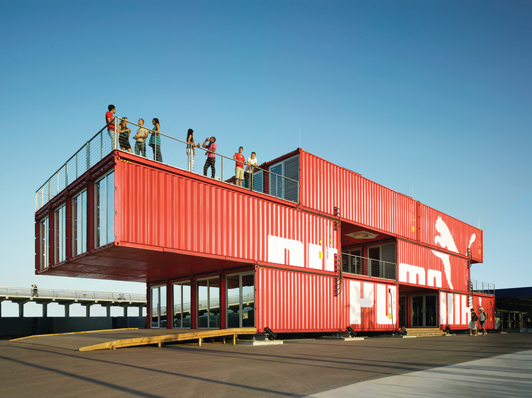 "LOT-EK: ""The Shipping Container Is a Vehicle to Invent New Architecture"", PUMA City, 2008. Image © Danny Bright"