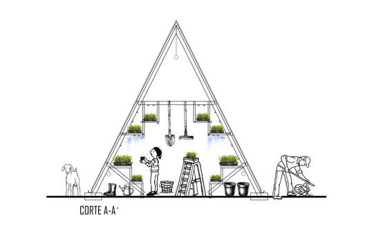 Corte. Image Cortesía de Natura Futura Arquitectura