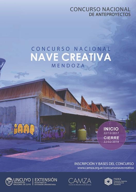 Nave Creativa Mendoza: Concurso Nacional de Anteproyectos en Argentina, Cortesía de CAMZA