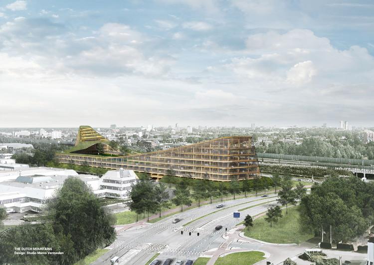 """""""The Dutch Montains"""": maior edifício de madeira do mundo será construído na Holanda, © Studio Marco Vermeulen"""