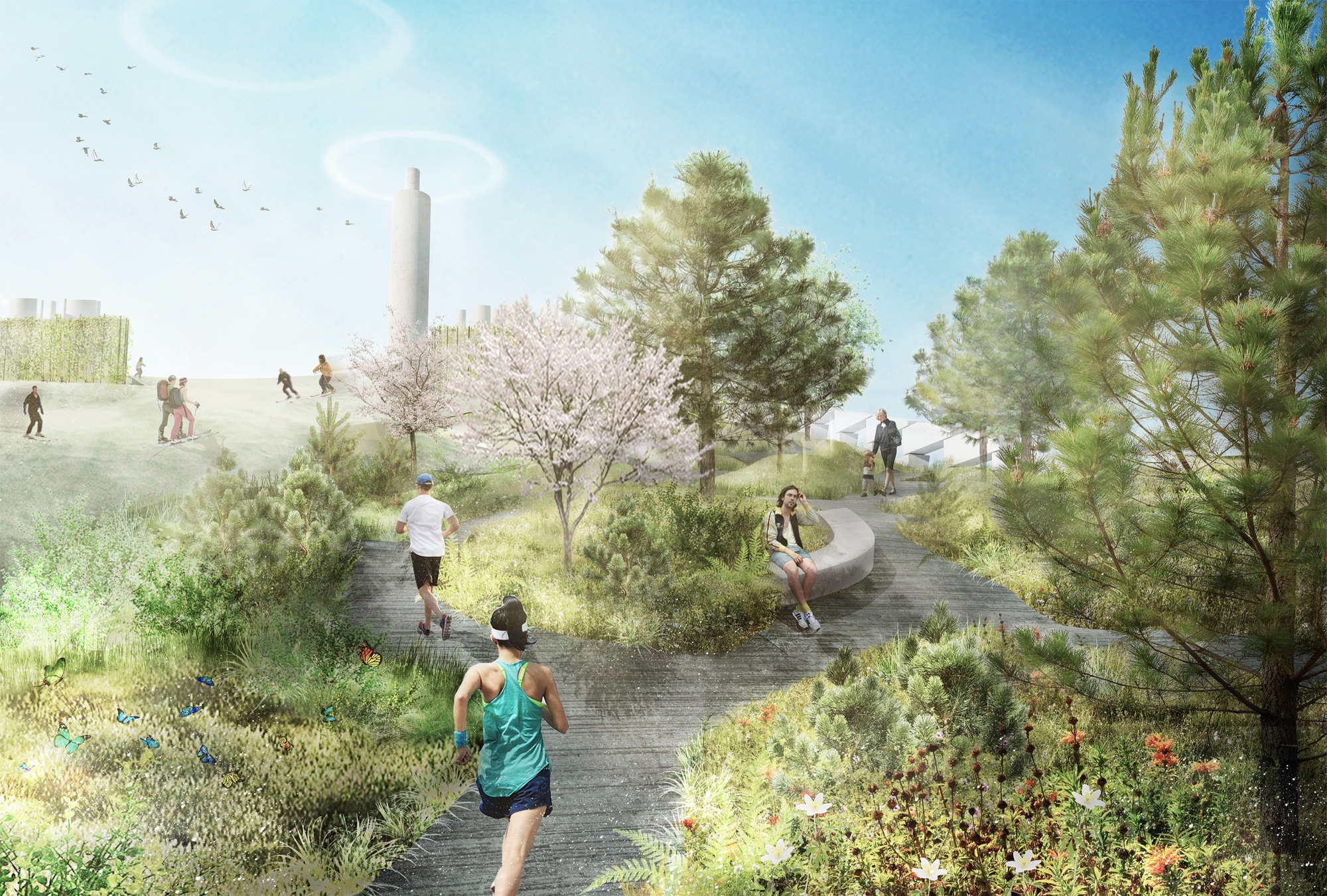 Gallery Of Sla Reveals Park And Ski Slope That Will Cap