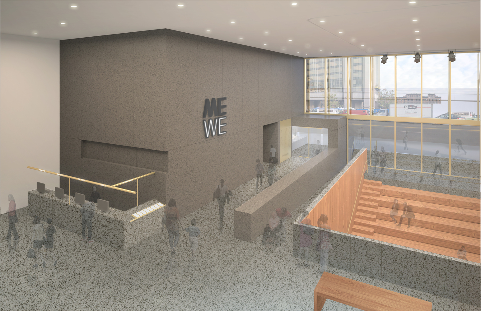 Adjaye Associates' Studio Museum Moves Forward Toward Fall Groundbreaking,Lobby. Image Courtesy of Adjaye Associates