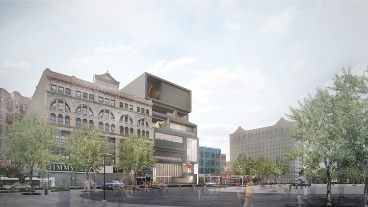 Adjaye Associates' Studio Museum Moves Forward Toward Fall Groundbreaking, Exterior View. Image Courtesy of Adjaye Associates