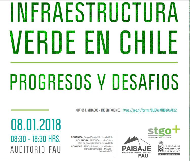 Seminario 'Infraestructura verde en Chile: Progresos y desafíos', Facultad de Arquitectura y Urbanismo de la Universidad de Chile