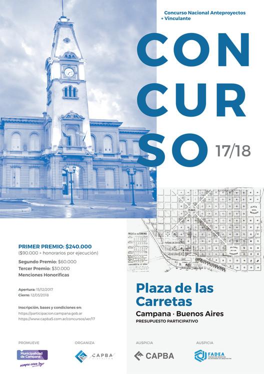 Plaza de las Carretas: Concurso Nacional de Anteproyectos en Campana, Buenos Aires, Cortesía de CAPBA