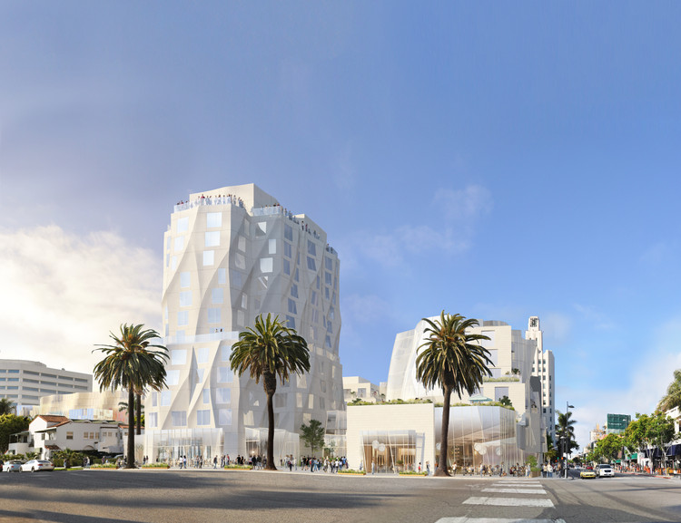 New Renderings Show Gehry's Ocean Avenue Tower Shortened to 12 Stories, © Gehry Partners. Via City of Santa Monica