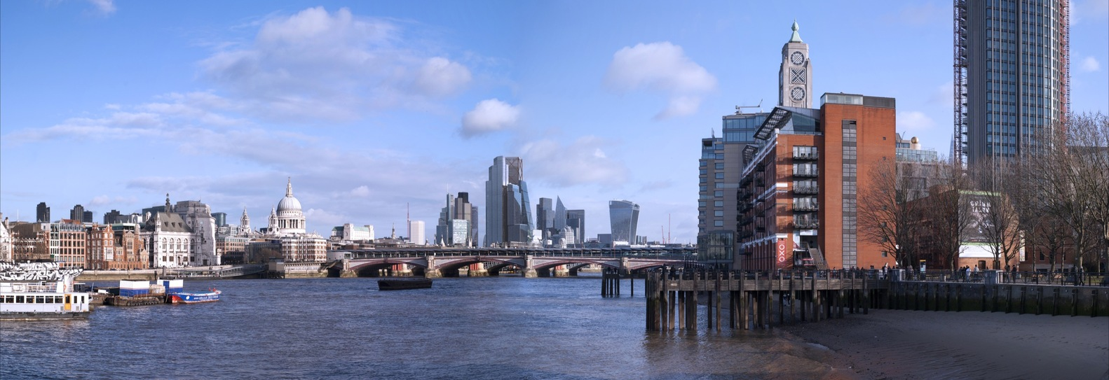 New Visualizations Show How London's Skyline Will Look in 2026,View from South Bank. Image Courtesy of City of London