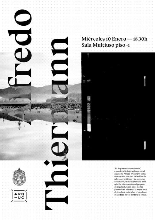 Conferencia 'La Arquitectura como Medio' por Alfredo Thiermann, Trinidad Sánchez