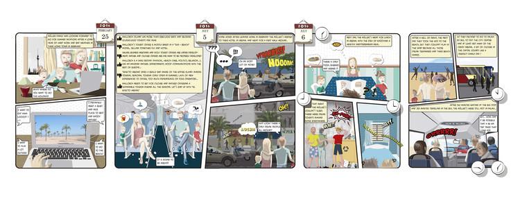 Conoce 'El final del Efecto Arenal', el cómic que ganó mención especial en el Europan 14, Cómic parte 1. Europan 14. Image Cortesía de OOIIO Arquitectura