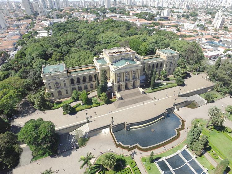 Vencedores do concurso de restauro do Museu Paulista, 1º lugar. Image Cortesia de H+F Arquitetos
