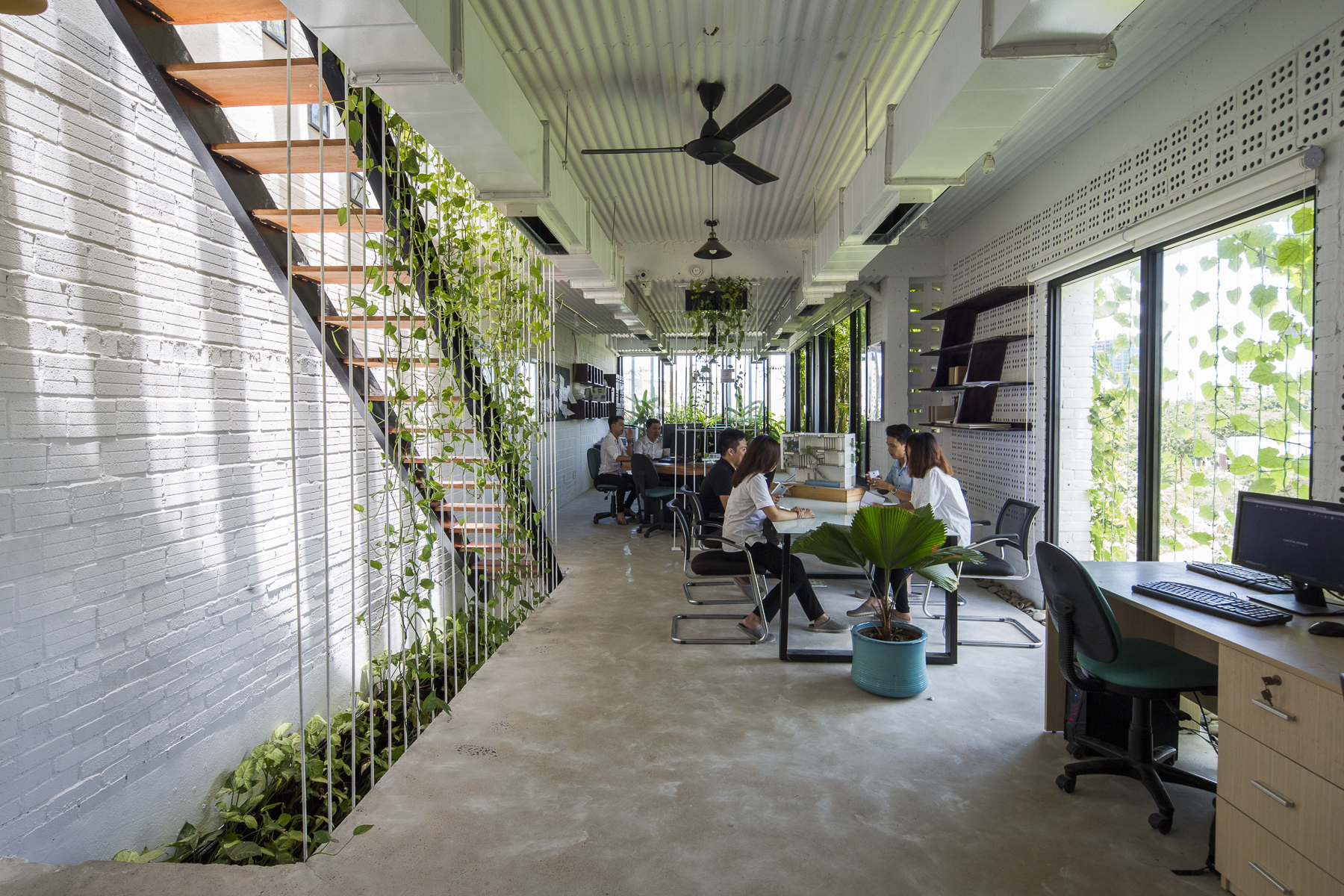 The Modern Village Office Ho Khue Architects ArchDaily
