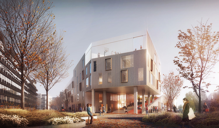 C.F. Møller Wins Competition for Active-Learning School in Copenhagen, Courtesy of C.F. Møller