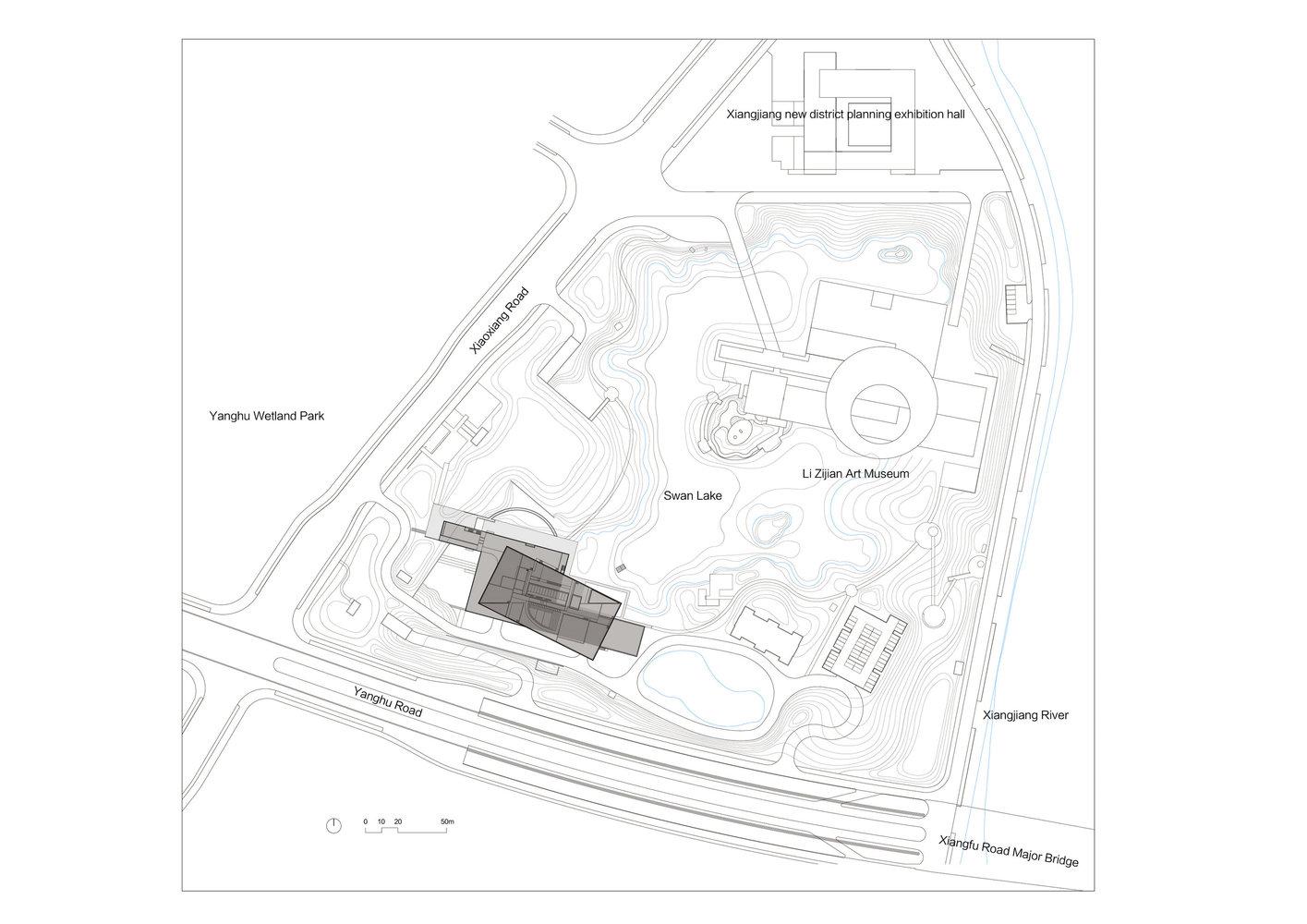 xie zilong photography museum / wcy regional studio  master plan