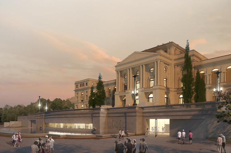 1º lugar no concurso para o Museu Paulista, por H+F Arquitetos, Cortesia de H+F Arquitetos