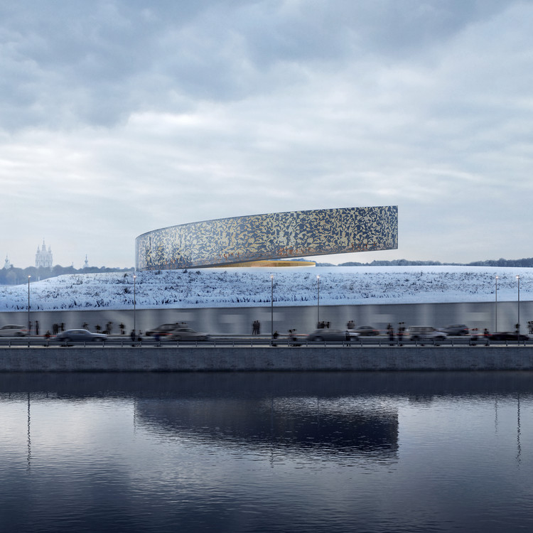 Competition Finalist for Leningrad Siege Museum Reaches for the Sky, Courtesy of Lahdelma & Mahalmäki Architects