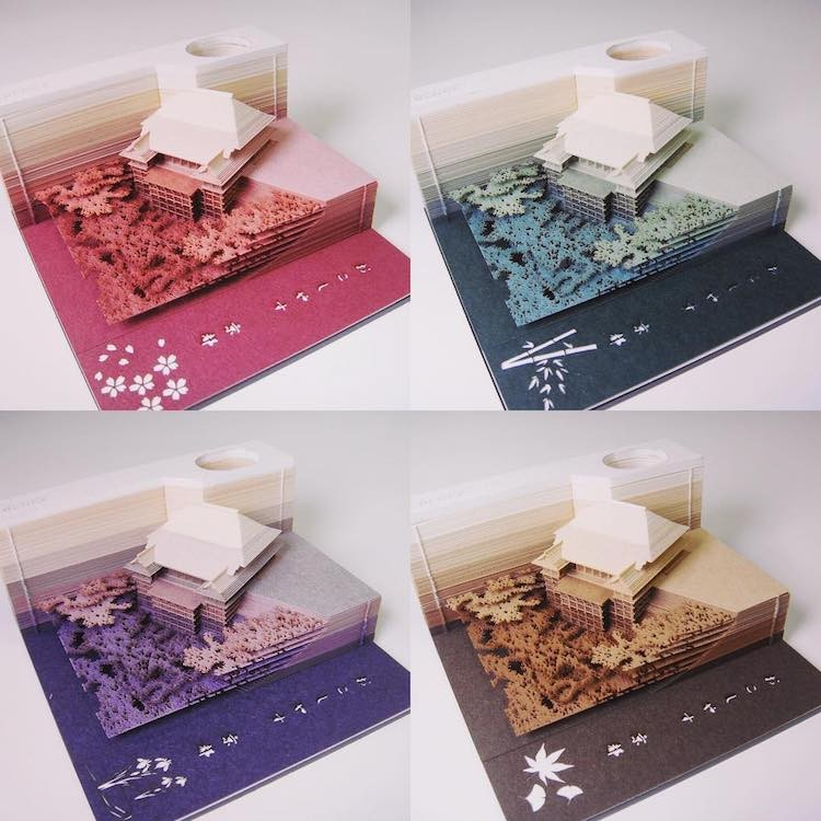These Japanese Memo Pads Reveal Architectural Sites As Each Sheet is Removed