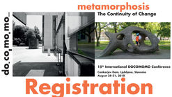 15th International Docomomo Conference – Metamorphosis. The Continuity of Change