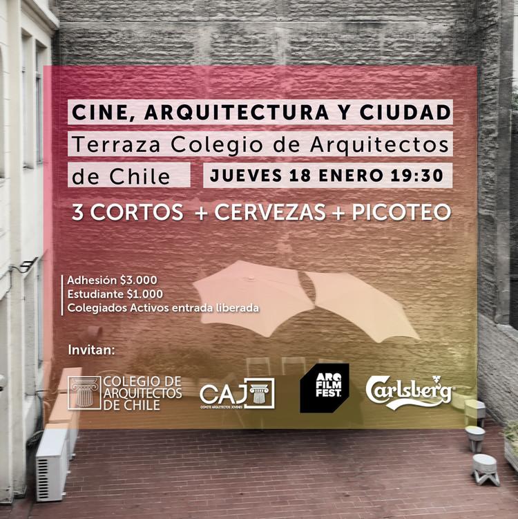 Noche de cine, arquitectura y ciudad en el Colegio de Arquitectos de Chile, Colegio de Arquitectos de Chile