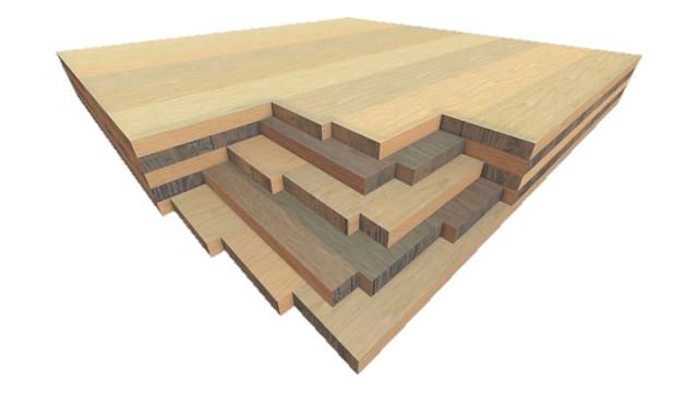 As vantagens da madeira laminada cruzada (CLT) incluem velocidade de construção, resistência à chama e estabilidade. Imagem Cortesia de Hexion