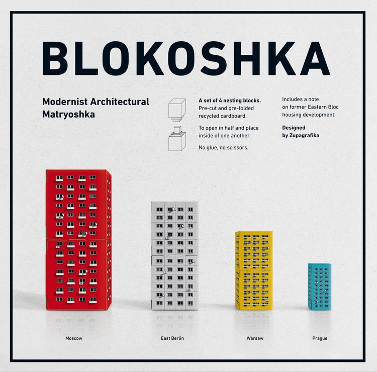 Zupagrafika Presents BLOKOSHKA: A Modernist Architectural Matryoshka, BLOKOSHKA. Modernist Architectural Matryoshka by Zupagrafika