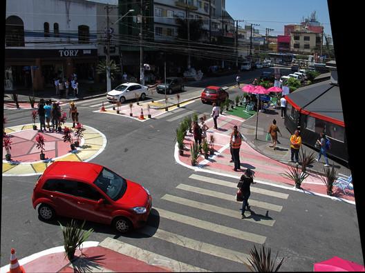 """Action """"Intervenção temporária em Santana"""". Foto: cortesia do ITDP"""