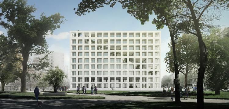 Francisco Moure + Pablo Saric + Tomás Villalón diseñarán edificio corporativo de la Universidad Central de Chile, Cortesía de Equipo Primer Lugar