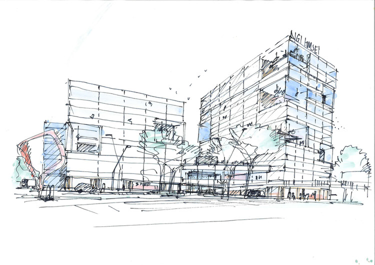 Sketch. Image Courtesy of Schmidt Hammer Lassen Architects