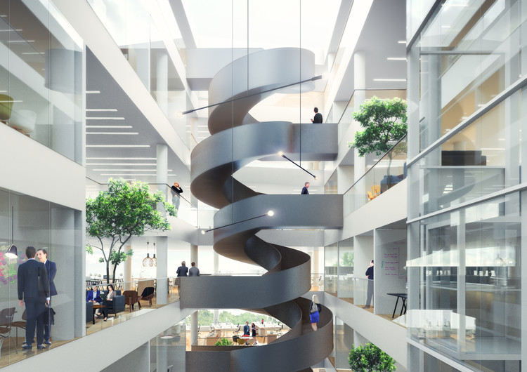 Atrium View. Image Courtesy of Schmidt Hammer Lassen Architects