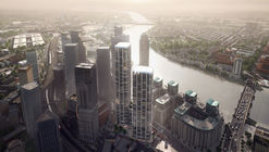 Zaha Hadid Architects Unveil Mixed-Use Public Square Scheme for Vauxhall Cross Island in London