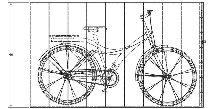 Equipamentos urbanos para espaços públicos ajudam a construir uma cidade ciclável, Bike Lockers | Reliance Foundry