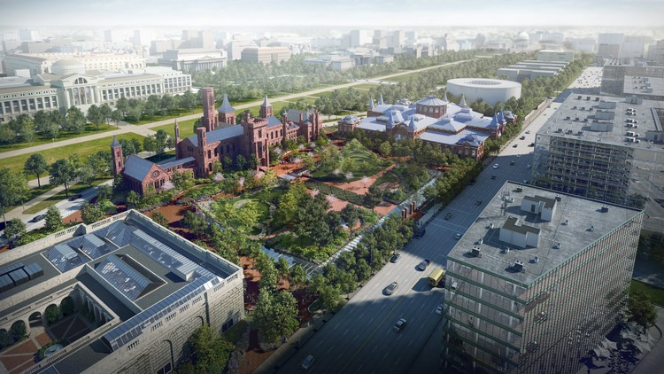 BIG Reveals Updated Vision for Smithsonian Campus Master Plan Scheme, Courtesy of BIG. Rendering by Brick Visual