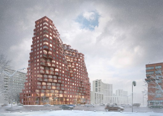 Winter Street View. Image © MVRDV