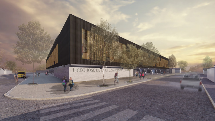 Prado Arquitectos obtiene primer lugar en concurso del nuevo Liceo José de la Cruz Miranda Correa en Chile, Cortesía de Prado Arquitectos