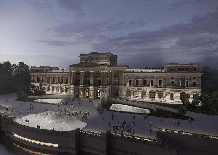 3º lugar no concurso para o Museu Paulista, por Vigliecca & Associados, Cortesia de Vigliecca & Associados